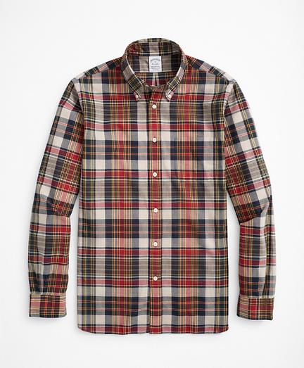 Regent Regular-Fit Sport Shirt, Red Madras