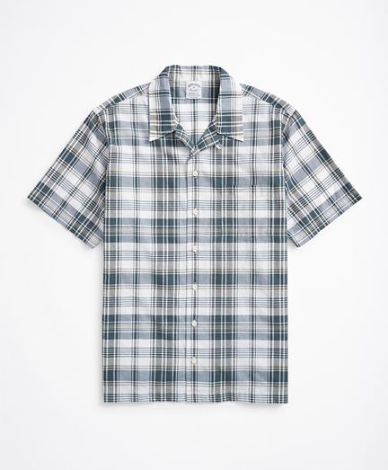 Regent Regular-Fit Sport Shirt, Camp Collar Short-Sleeve Madras