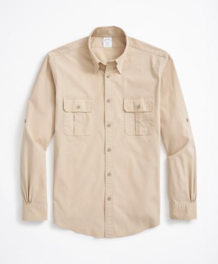 Regent Fit Sport Shirt, Cotton Poplin
