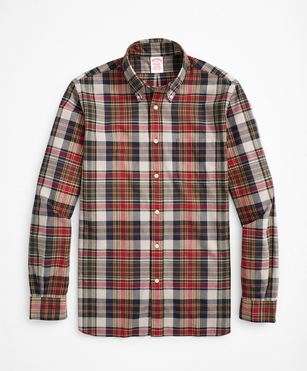 Madison Classic-Fit Sport Shirt, Red Madras