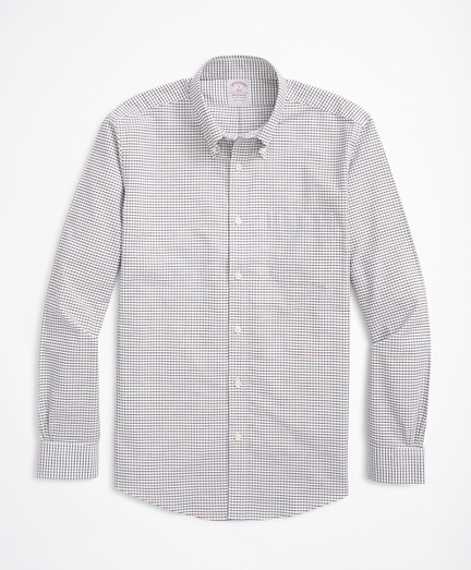 Stretch Madison Relaxed-Fit Sport Shirt, Non-Iron Check