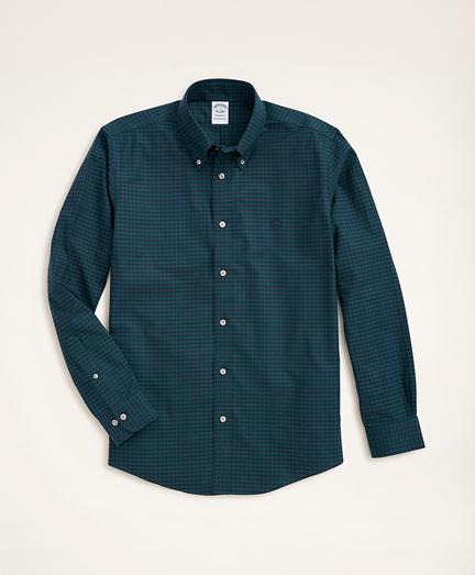 Stretch Regent Regular-Fit Sport Shirt, Non-Iron Gingham Oxford