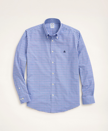 Stretch Regent Regular-Fit Sport Shirt, Non-Iron Windowpane Oxford