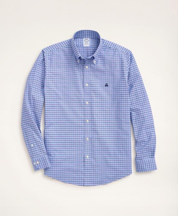 Stretch Regent Regular-Fit Sport Shirt, Non-Iron Windowpane OxfordLight Blue product