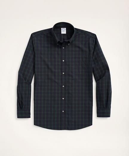 Regent Regular-Fit Original Broadcloth Sport Shirt, Black Watch Tartan