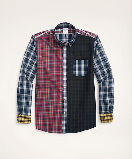 Regent Regular-Fit Original Broadcloth Fun Tartan Sport Shirt