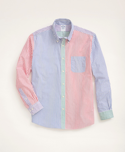 Regent Regular-Fit Original Broadcloth Sport Shirt, Fun Bengal Stripe