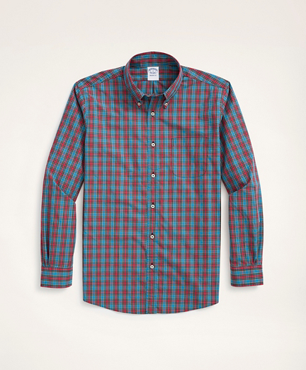 Regent Regular-Fit Original Broadcloth Sport Shirt, Tartan