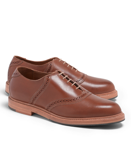 Distressed Leather Saddle Shoes
