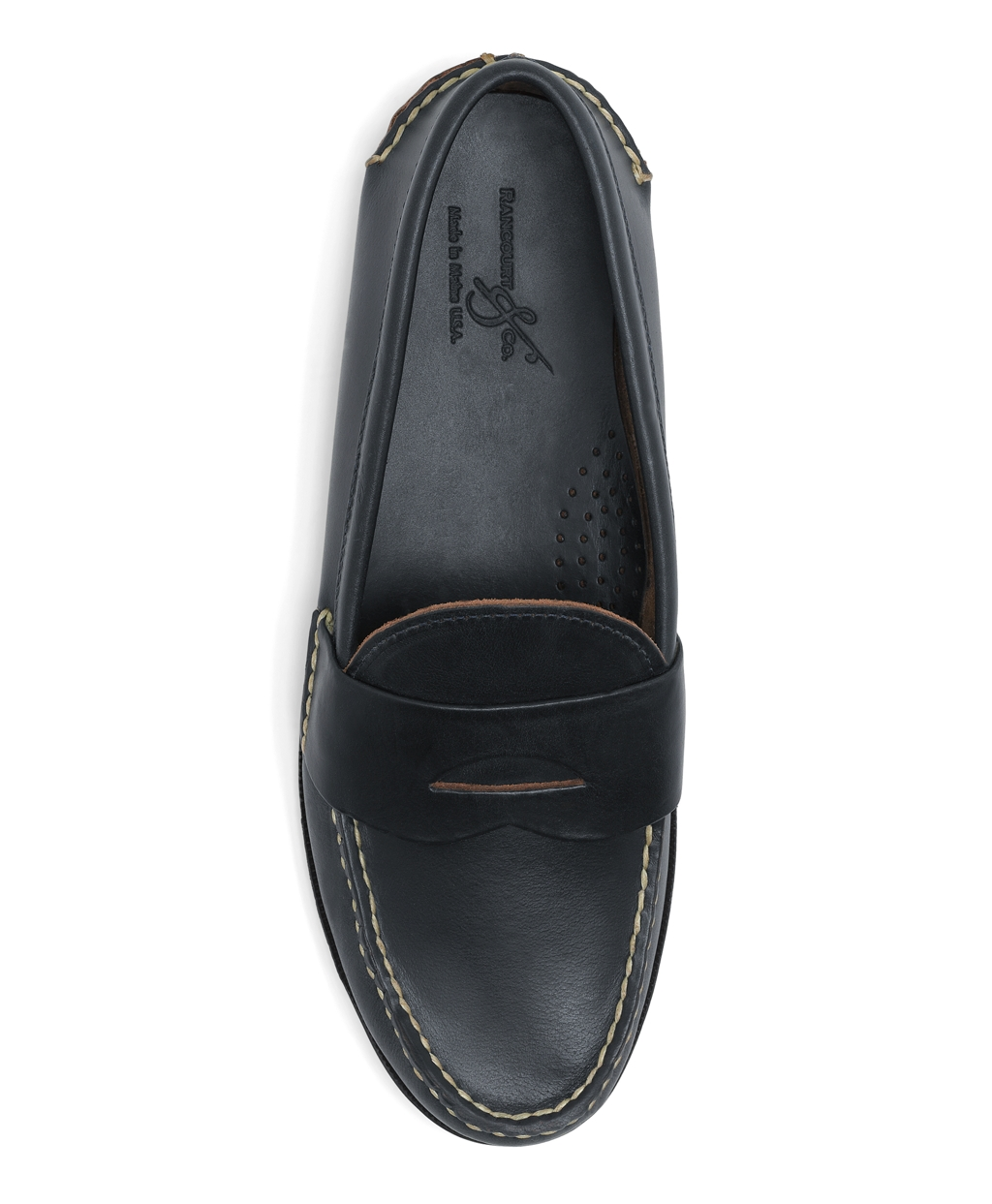 Mens Rancourt And Co Casual Penny Loafers Brooks Brothers D Island Shoes Oxford Genuine Leather Brown Navy