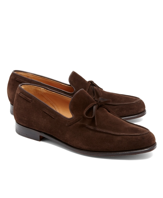 Lightweight Tie Loafers Brown Suede