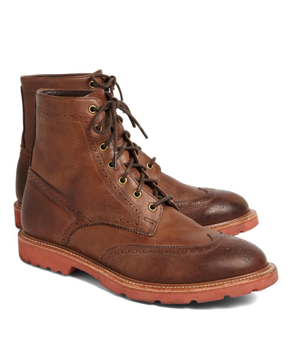 Brooks Brothers Men's Vintage Wingtip Boots