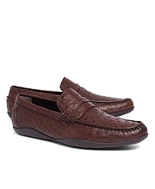 Harrys Of London® Basel Ostrich Penny Loafers
