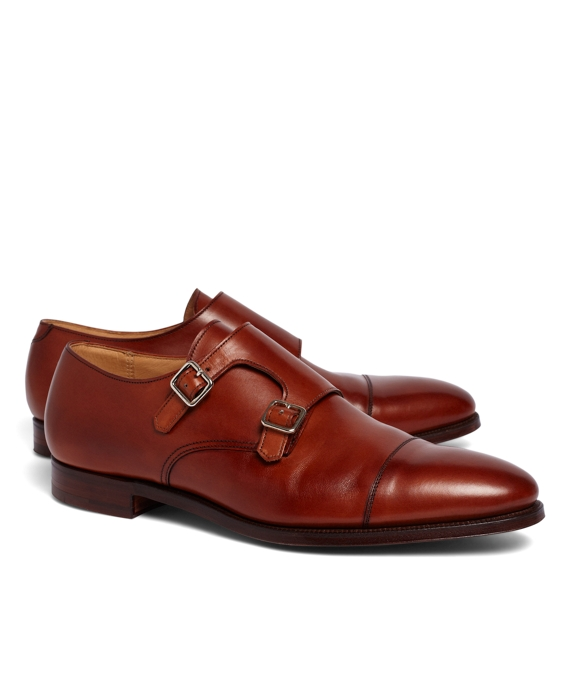 Peal & Co.® Double Monk Strap Shoes Brown