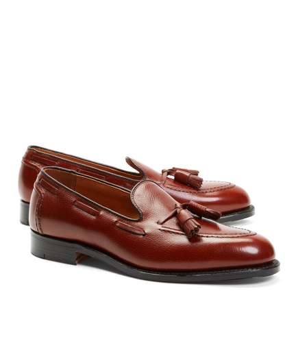 Textured Tassel Loafers