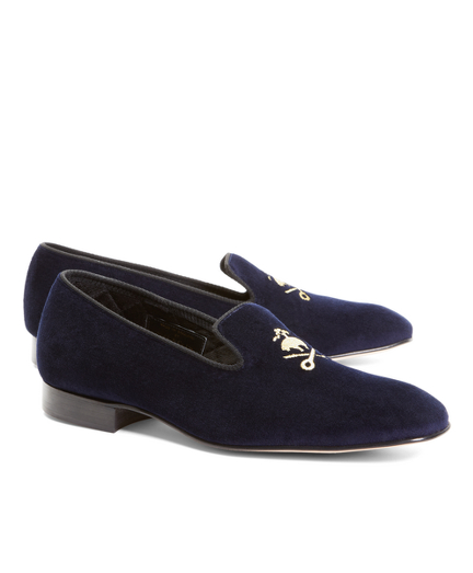 Velvet Fleece and Shears Slippers