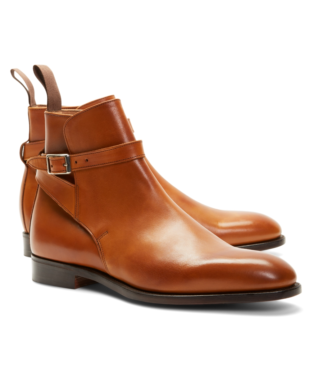 Brooks Brothers Men's Peal & Co. Leather Ankle Strap Buckle Boots