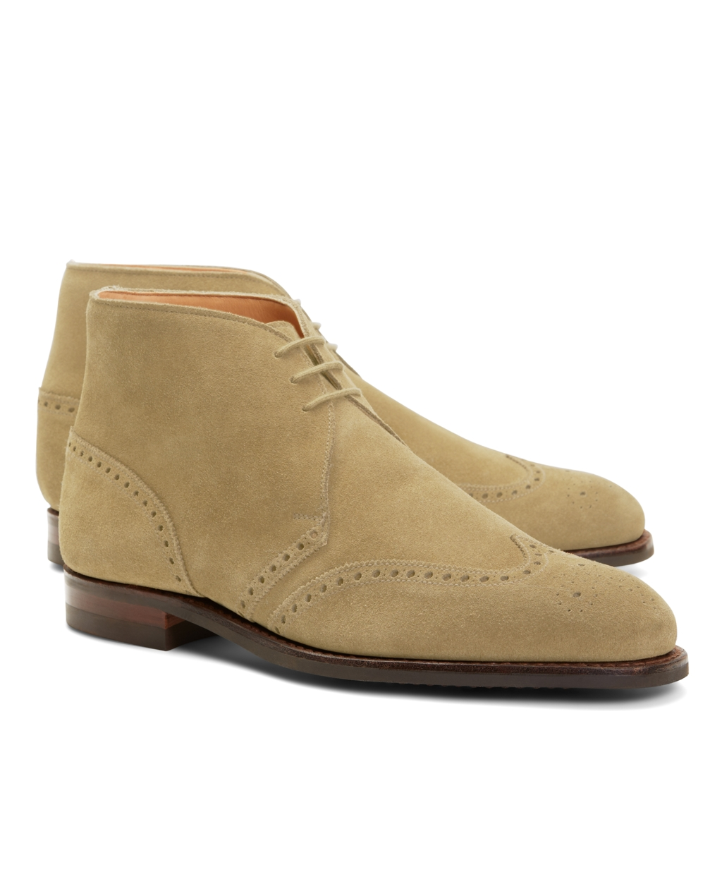 Brooks Brothers Men's Peal & Co. Suede Wingtip Boots