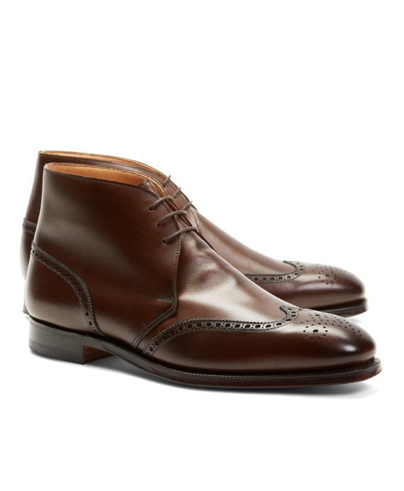 Peal & Co.® Leather Wingtip Boots Brown
