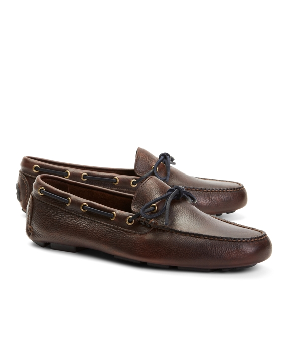 Pebble Leather Driving Mocs Brown