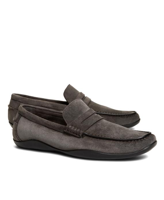 Harrys Of London® Suede Basel Loafers Grey
