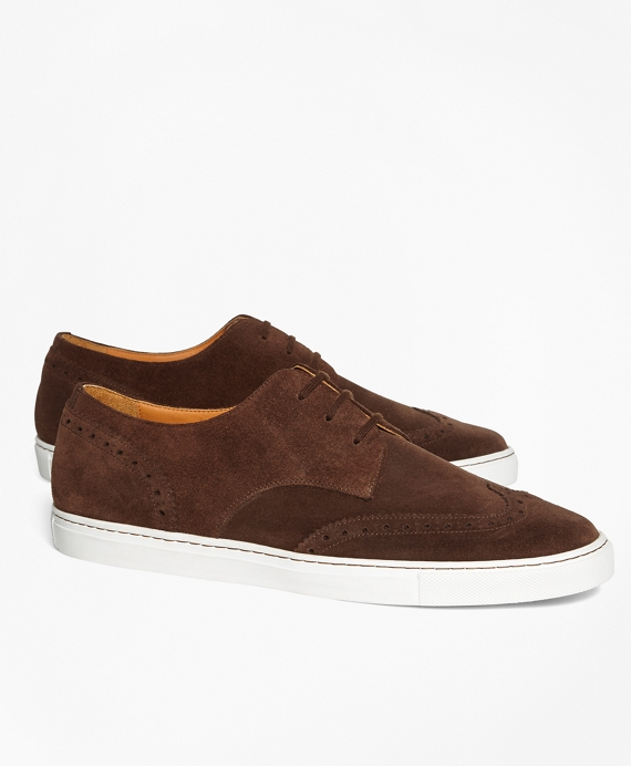 Suede Wingtip Sneakers Brown