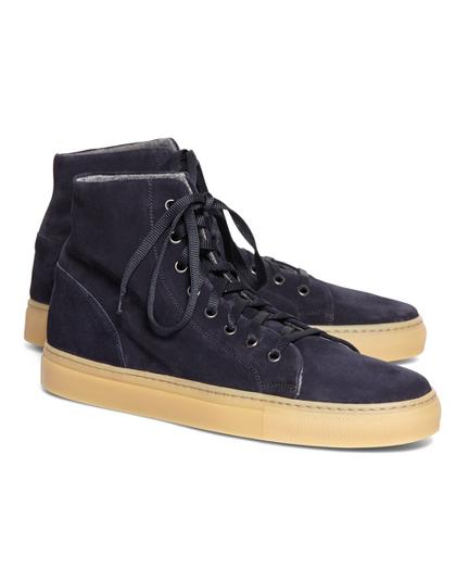 High Top Suede Sneaker