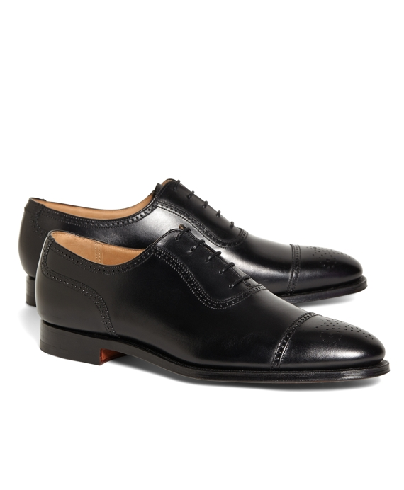 Peal & Co.® Medallion Captoes Black