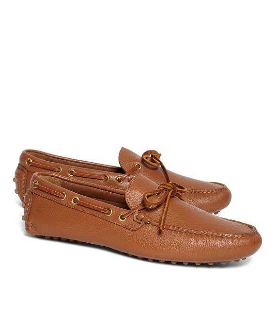 4d6867abe4b32 Men's Laced Leather Driving Moccasins | Brooks Brothers