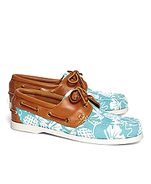 Pineapple Print Boat Shoes