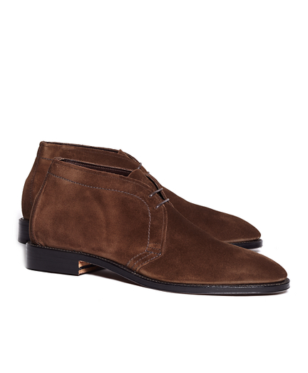Unstructured Suede Chuka Boots