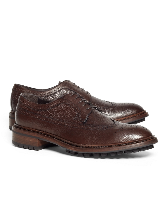 Pebble Leather Wingtips Brown