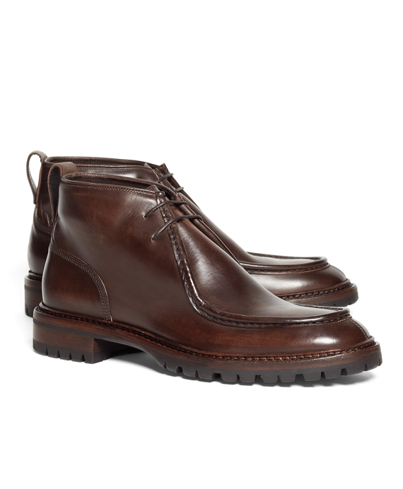 Leather Chukka Boots Brown