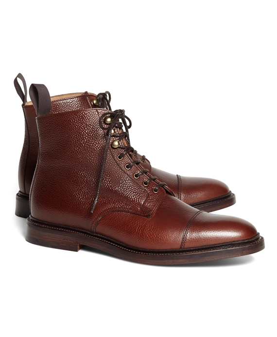 Peal & Co Captoe Boots Brown