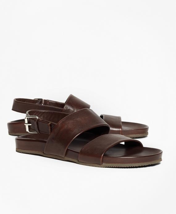 79d80ec800d Double Strap Leather Sandals - Brooks Brothers