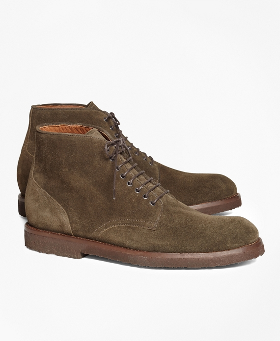 Suede Boots Dark Green