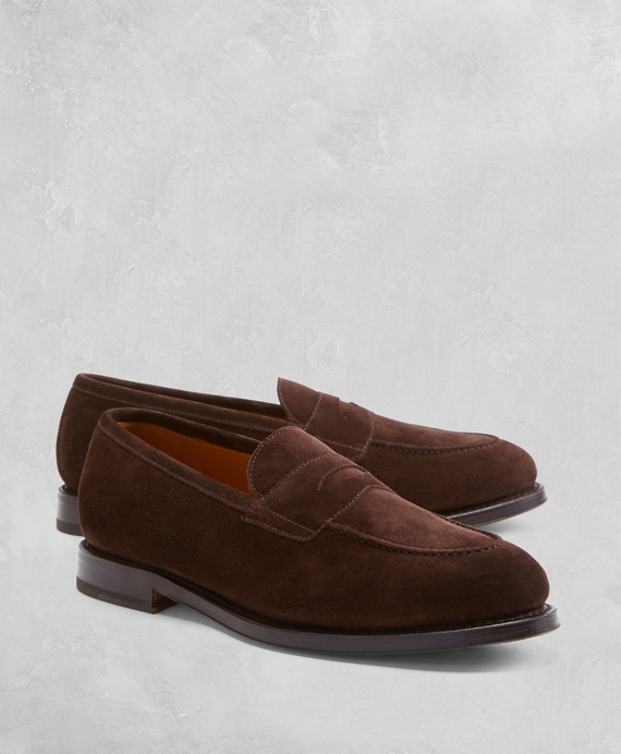 Golden Fleece® Suede Penny Loafers Brown