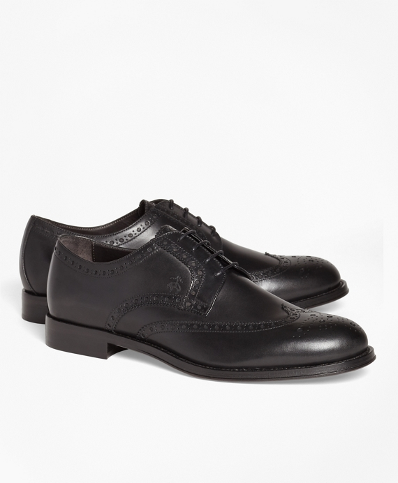 1818 Footwear Leather Wingtips Black