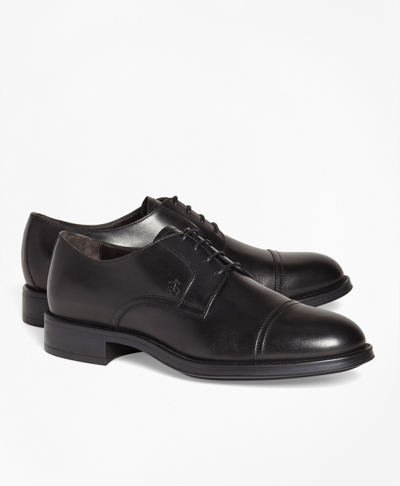 1818 Footwear Leather Captoes Black