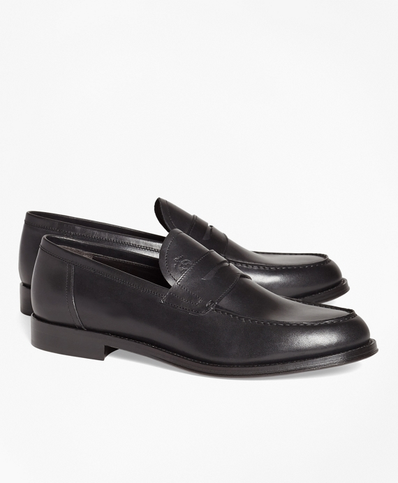 1818 Footwear Leather Penny Loafers Black