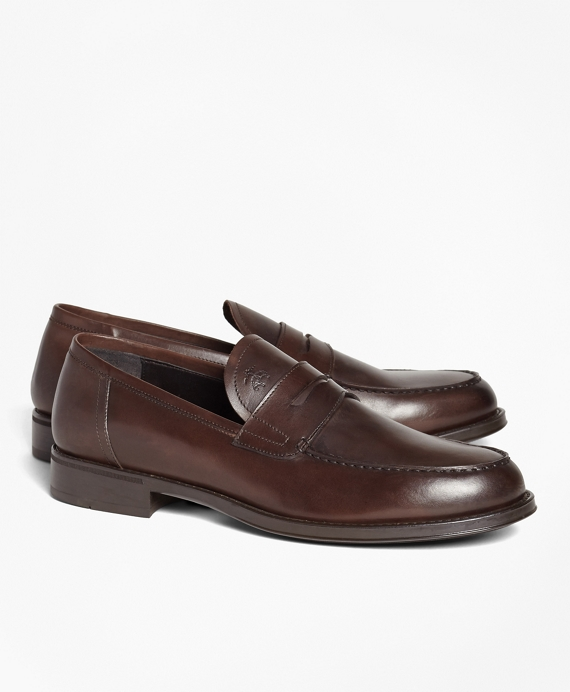 1818 Footwear Rubber-Sole Leather Penny Loafers Brown