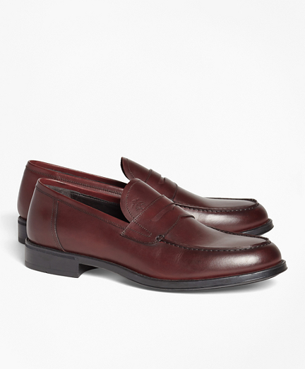 Brooksbrothers 1818 Footwear Rubber-Sole Leather Penny Loafers