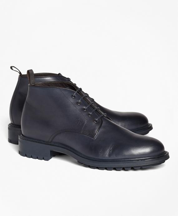1818 Footwear Lug-Sole Leather Chukka Boots Navy