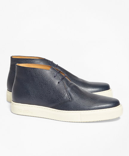 1818 Footwear Textured Leather Chukka Sneakers