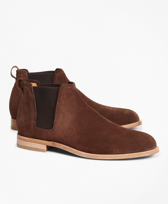 Chelsea Suede Boots Brown