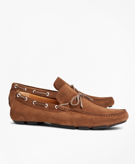 Suede Driving Moccasins Brown