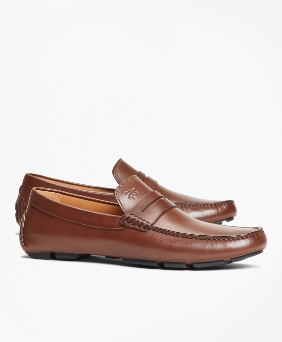 Leather Driving Moccasins Dark Brown