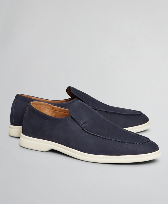The Brooks Brothers Voyager 1 Shoe - Nubuck Navy