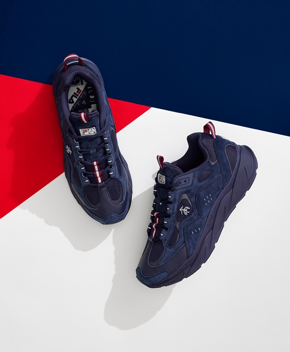 Brooks Brothers x FILA Trigate Sneakers Navy