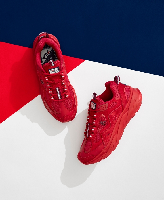 Brooks Brothers x FILA Trigate Sneakers Red